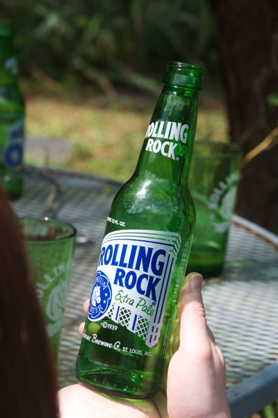 Rolling rock bottle